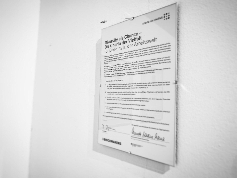 Charta der Vielfalt - unterzeichnet von BRICKMAKERS