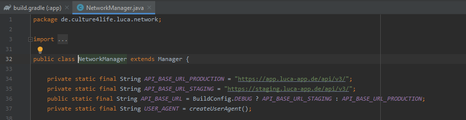 Trennung zwischen Development- und Production-Umgebung durch Hardcoding